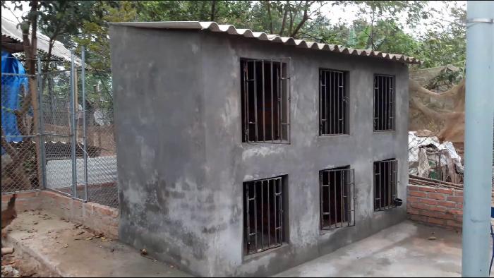 xây chuồng gà chọi bằng gạch
