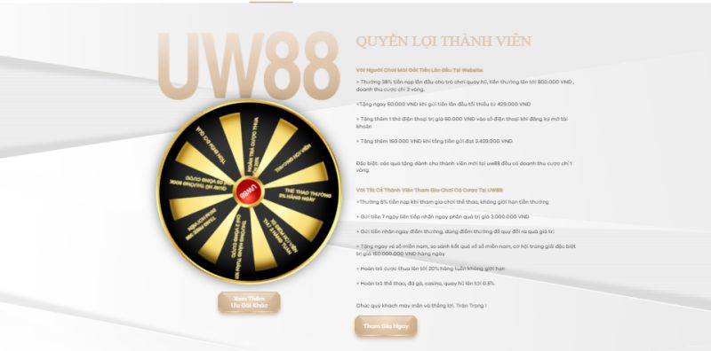 khuyến mãi nhà cái UW88